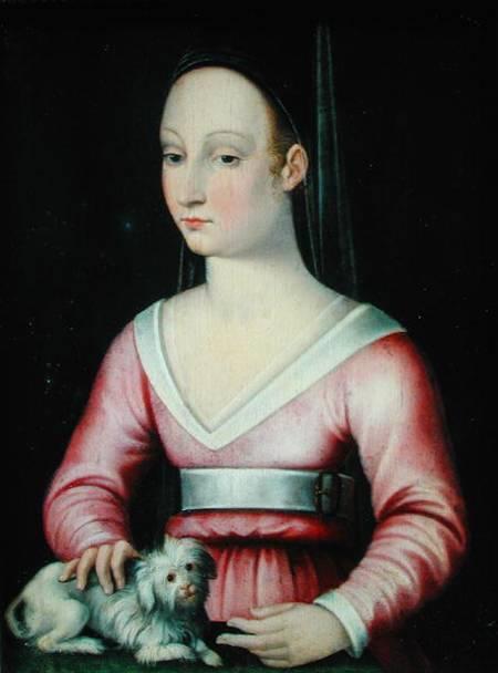 Agnès Sorel, par l'Ecole française (XVIe siècle)