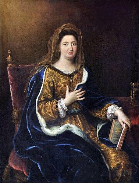 """Mme de Maintenon en """"Sainte Françoise Romaine"""" par Mignard (vers 1694)"""