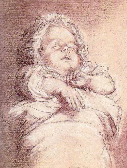 Sophie-Béatrice de France (ébauche de Mme Vigée-Lebrun pour son tableau)