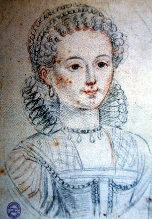 Agnès Sorel, maîtresse de Charles VII (dessin au crayon du XVIe siècle)