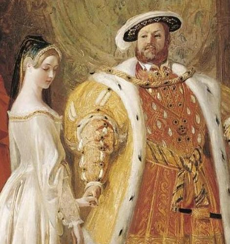 Henry VIII présente Anne à la cour ( par Daniel Maclise, XIXe siècle)