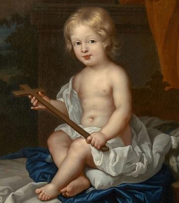 Portrait d'enfant en Saint Jean-Baptiste, par l'Ecole française du XVIIe siècle