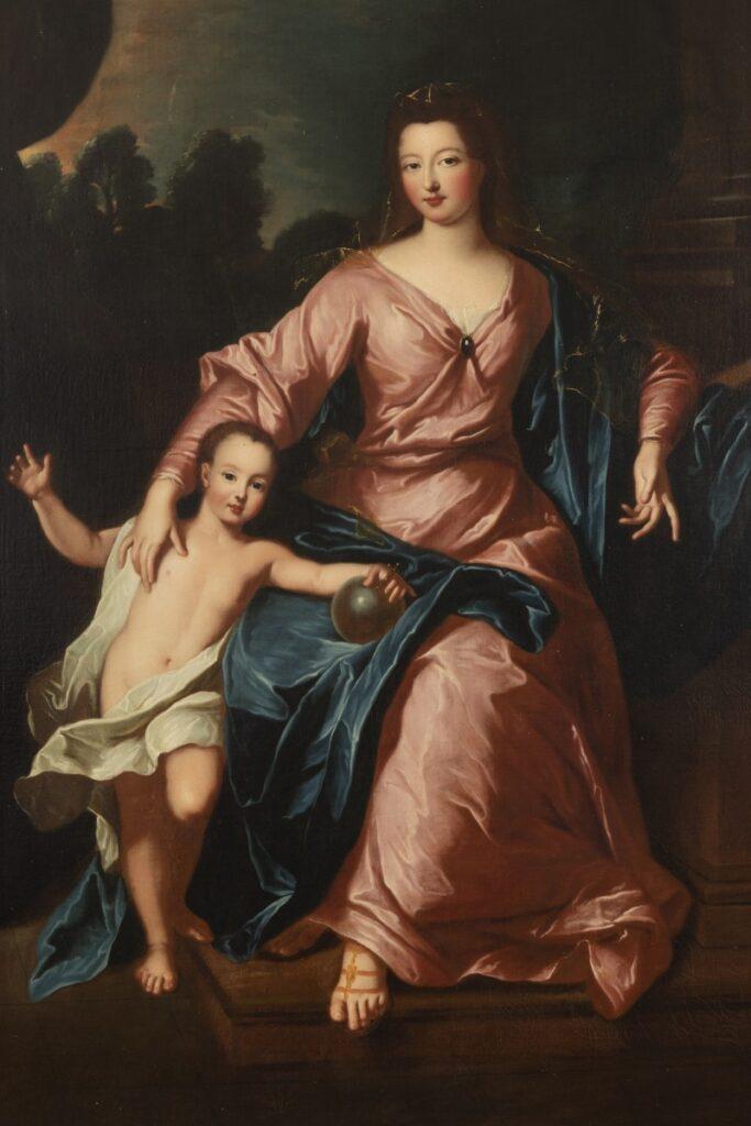 La duchesse d'Orléans et son fils, par Pierre Gobert (vers 1713)