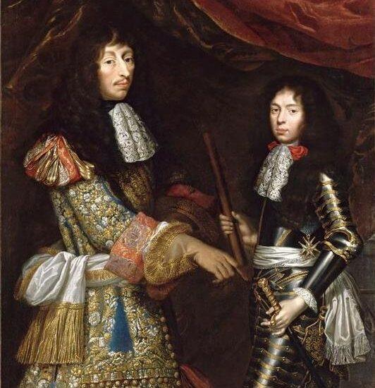Louis II de Bourbon-Condé et son fils, le duc d'Enghien, par Claude Lefebvre (XVIIe siècle)