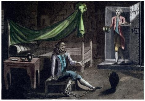 Gravure représentant le prisonnier masqué