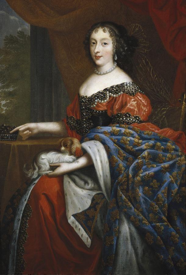Henriette d'Angleterre et sa chienne Mimi, par Pierre Mignard (XVIIe siècle)