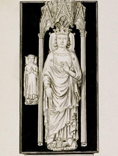 Dessin représentant les gisants de Louis X et de Jean Ier