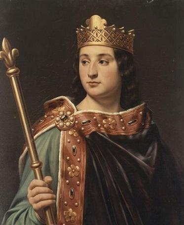 """Louis V """"le fainéant"""", par Louis-Félix Amiel (XIXe siècle)"""