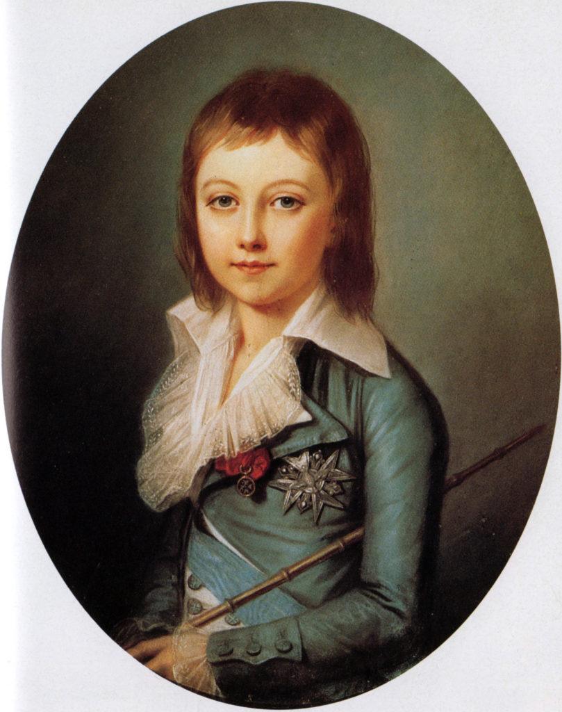 Louis XVII(alors dauphin) , par Alexandre Kucharski (1792)