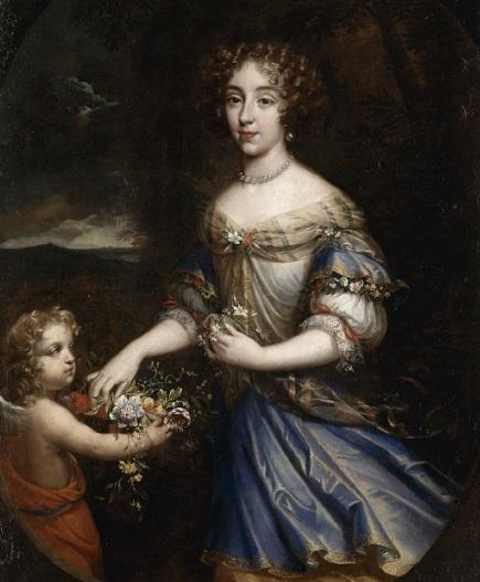 Louise de La Vallière, par Jean Nocret (1670) : le peintre a-t-il voulu représenter discrètement le fils aîné de la maîtresse du roi ?