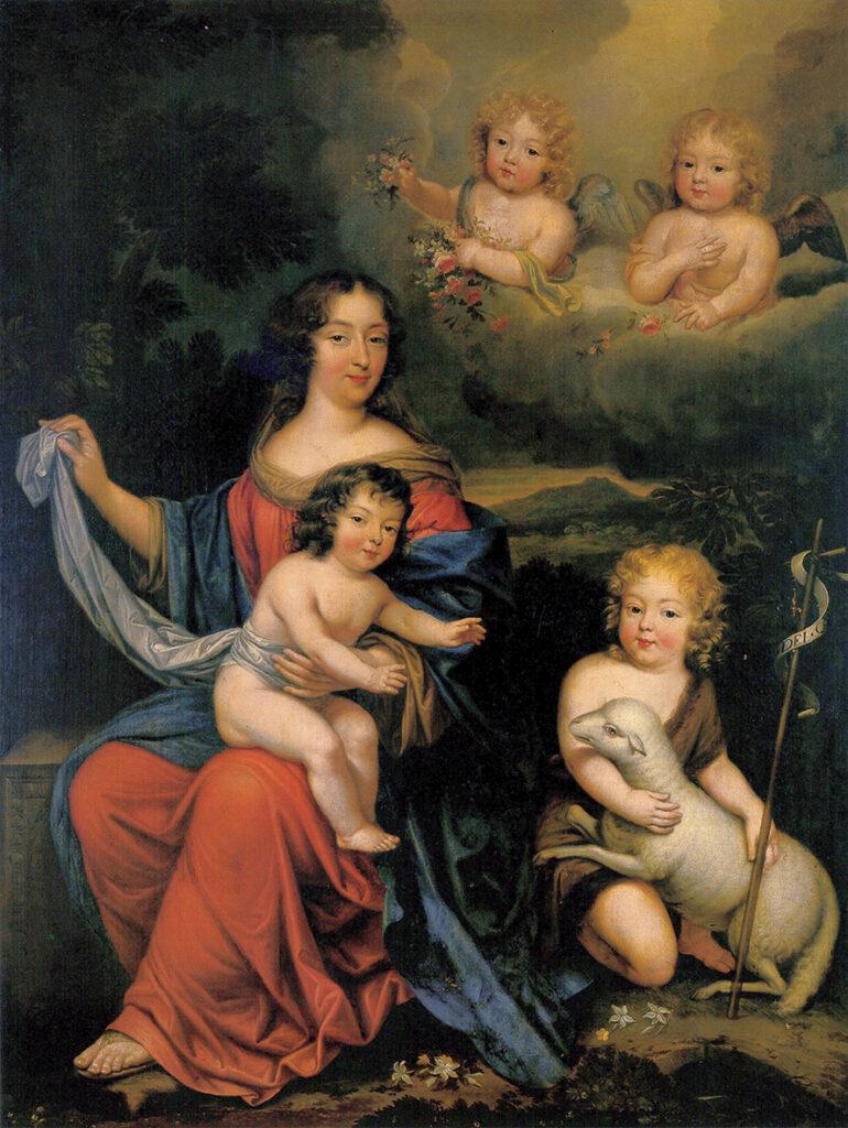 Mme de Maintenon, le duc du Maine et le comte de Vexin, attribué à Pierre Mignard (XVIIe siècle)