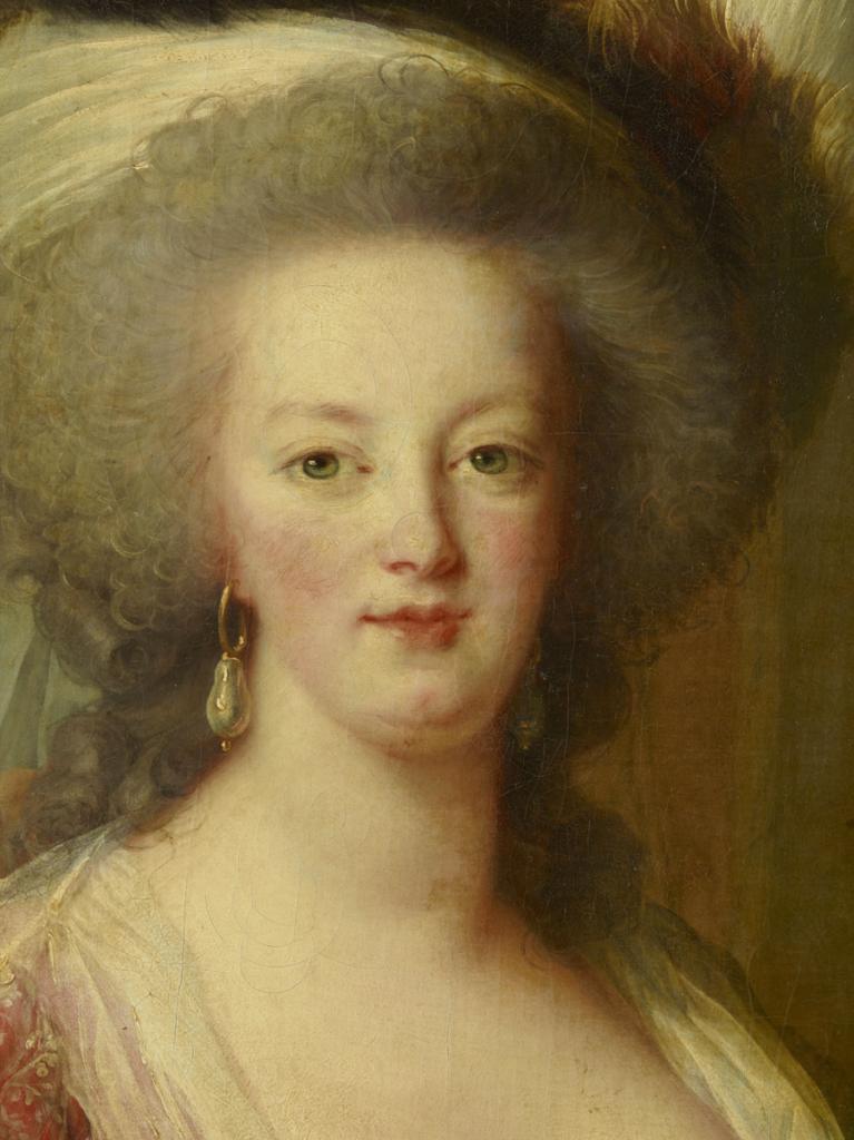 Détail du tableau de Mme Vigée-Lebrun