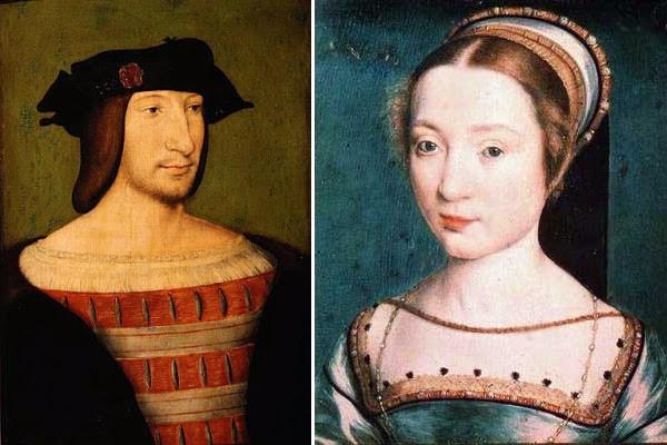 François Ier jeune par Jean Clouet (vers 1515) et Claude de France par Corneille de Lyon (posthume, vers 1535)