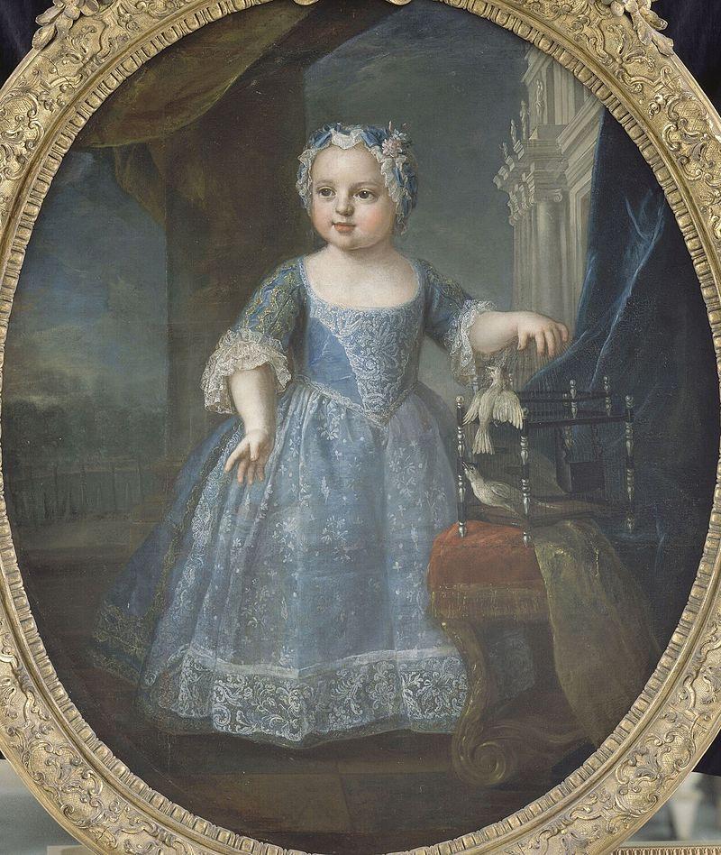 Louise-Marie de France, Madame Troisième, par Pierre Gobert (1730)
