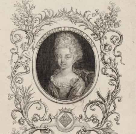 Gravure de Mademoiselle d'Orléans, future duchesse de Berry