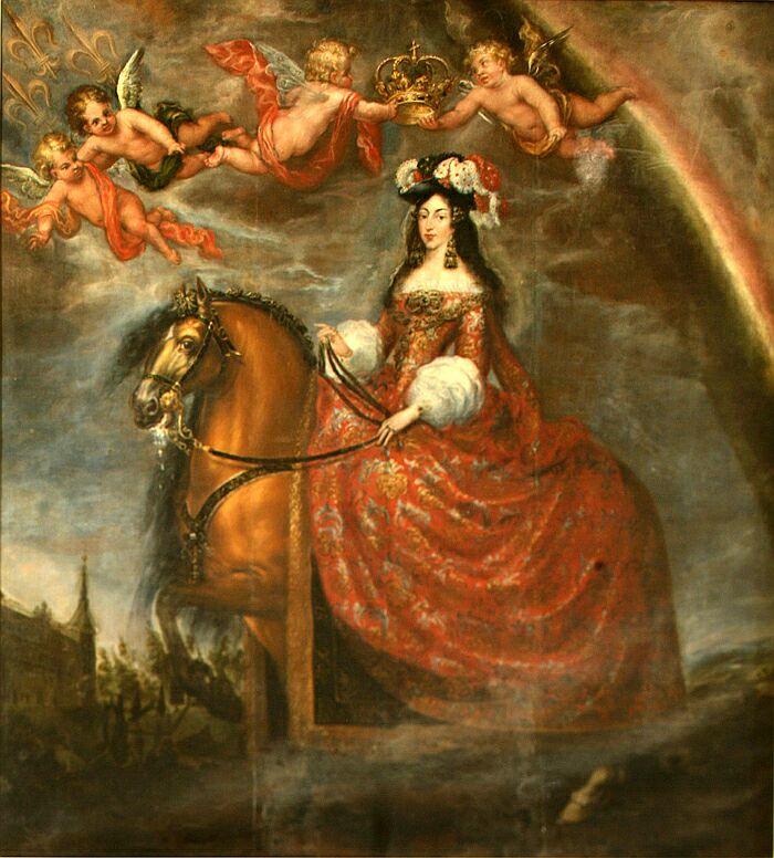 Portrait équestre de Marie-Louise d'Orléans, par Fransisco Rizi (1679)