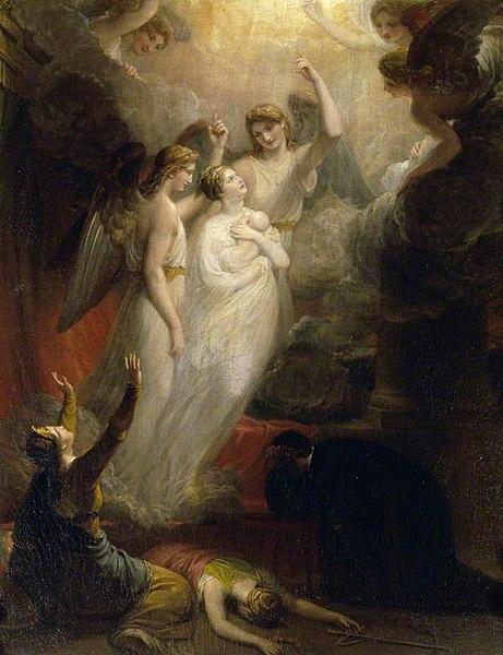 L'Apothéose de la princesse Charlotte Augusta, par Henry Howard (1818)