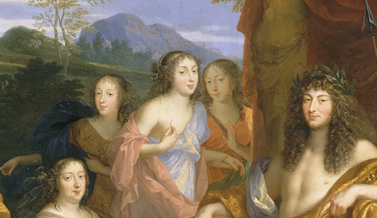 """Détail du tableau de Jean Nocret """"Louis XIV et la famille royale"""" (1670)"""
