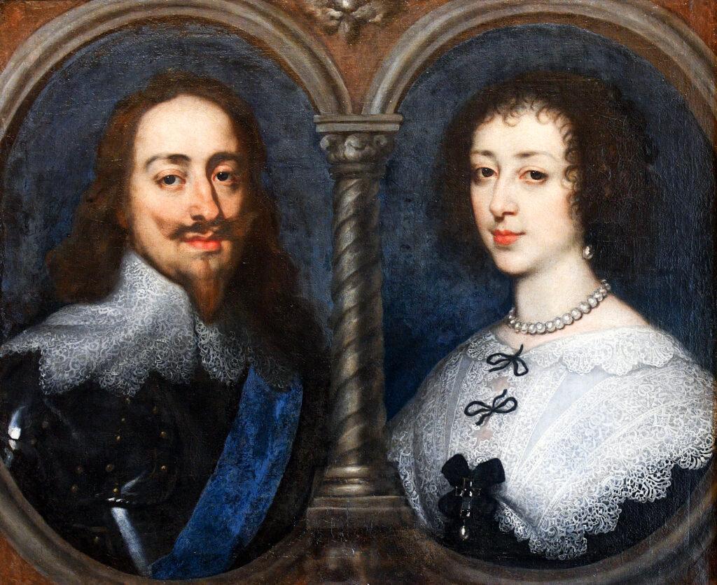 Charles Ier et Henriette-Marie de France, par Anthony Van Dyck ( 1632)