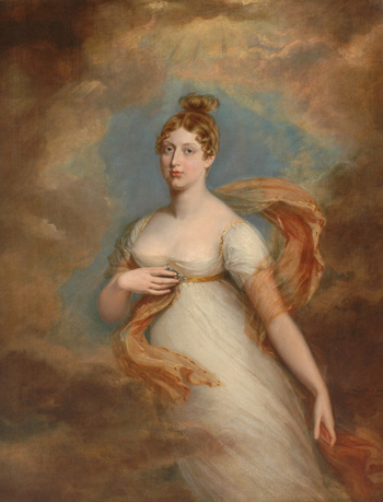 La princesse Charlotte en 1817, par George Dawe (achevé en 1818)