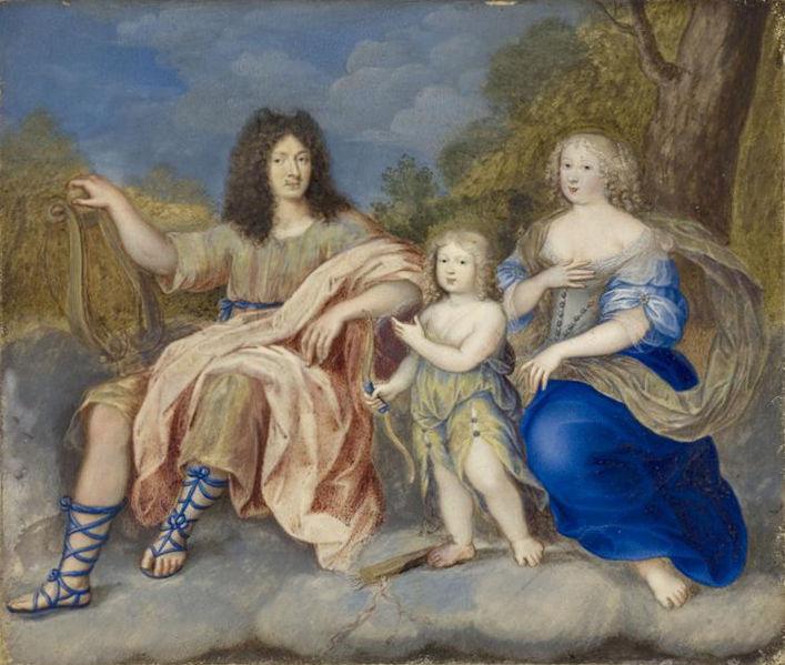 Louis XIV, Marie Thérèse et le Dauphin (anonyme, 1662)
