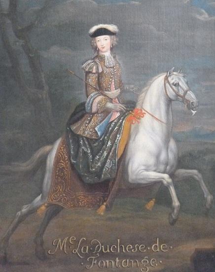 portrait équestre de la duchesse de Fontanges