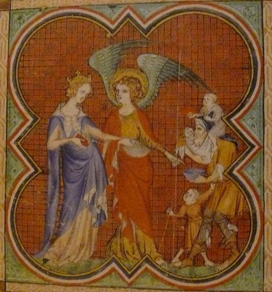 Jeanne de France, reine de Navarre, par Jean Le Noir (XIVe siècle)