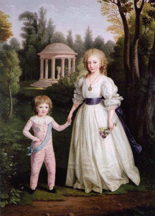 Madame Royale et son frère Louis-Charles par Ludwig Guttenbrunn (vers 1789)