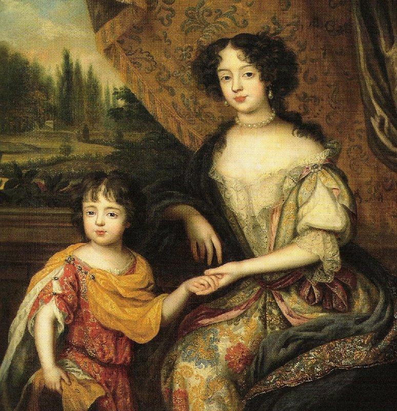 Louise de Keroualle et son fils, par Henry Gascar (1674)