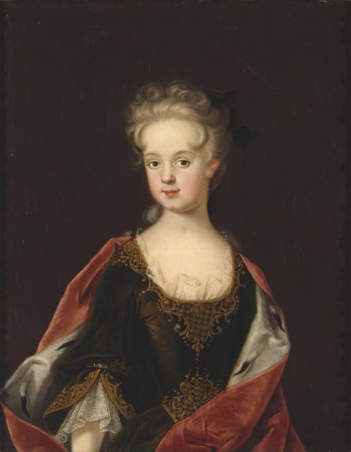 Marie Leszczyncka à l'âge de 9 ans, par Johan Starbus (1712)