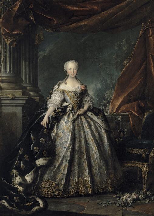La dauphine Marie-Thérèse-Raphaëlle d'Espagne, par Louis Tocqué (1745)