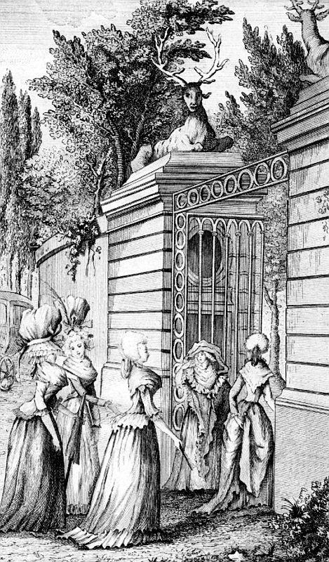 Le Parc-aux-Cerfs (gravure du XVIIIe siècle)