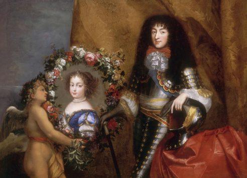 Philippe d'Orléans, prés du portrait de sa fille Marie-Louise (anonyme, XVIIe siècle)