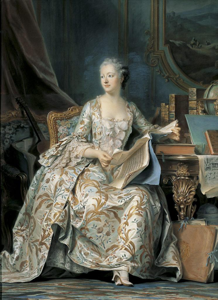 La marquise de Pompadour par Quentin de La Tour (1754)