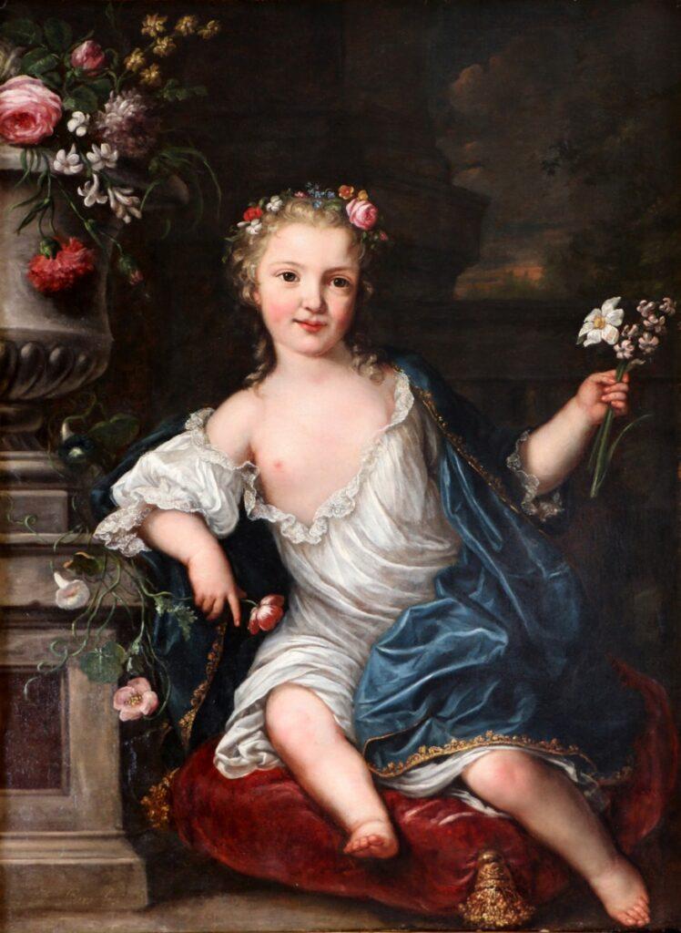 Portrait d'une jeune princesse (Thérèse Félicité de France ?) , par David Luders (1745)
