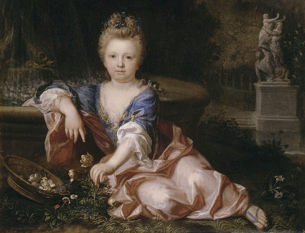 Portrait posthume d'une jeune princesse de la Maison de France anonyme, XVIIIe siècle)
