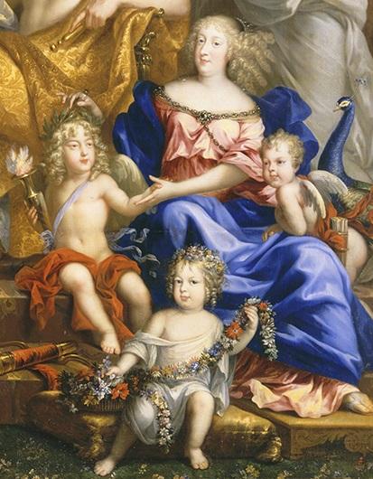 Marie-Thérèse et ses enfants, par Jean Nocret (1670)