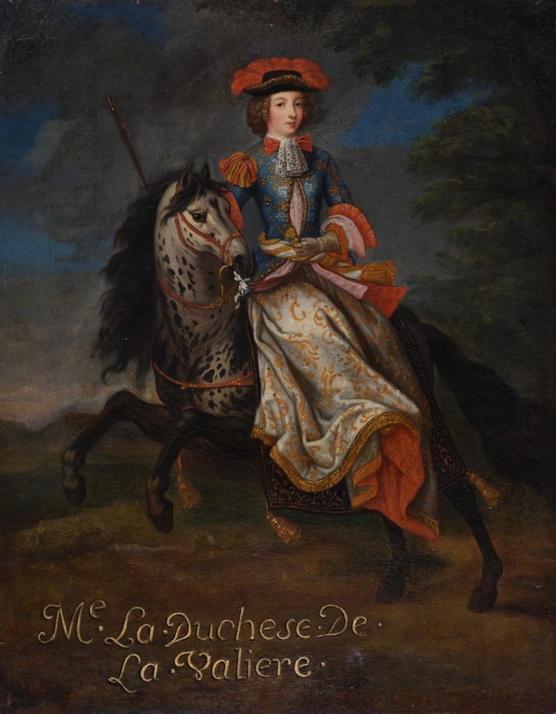 Portrait équestre de Louise de Vallière (anonyme, XVIIe       siècle)