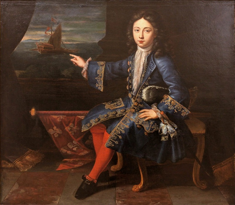 Le comte de Toulouse, tourné vers la Marine, par Hyacinthe Rigaud (vers 1690)