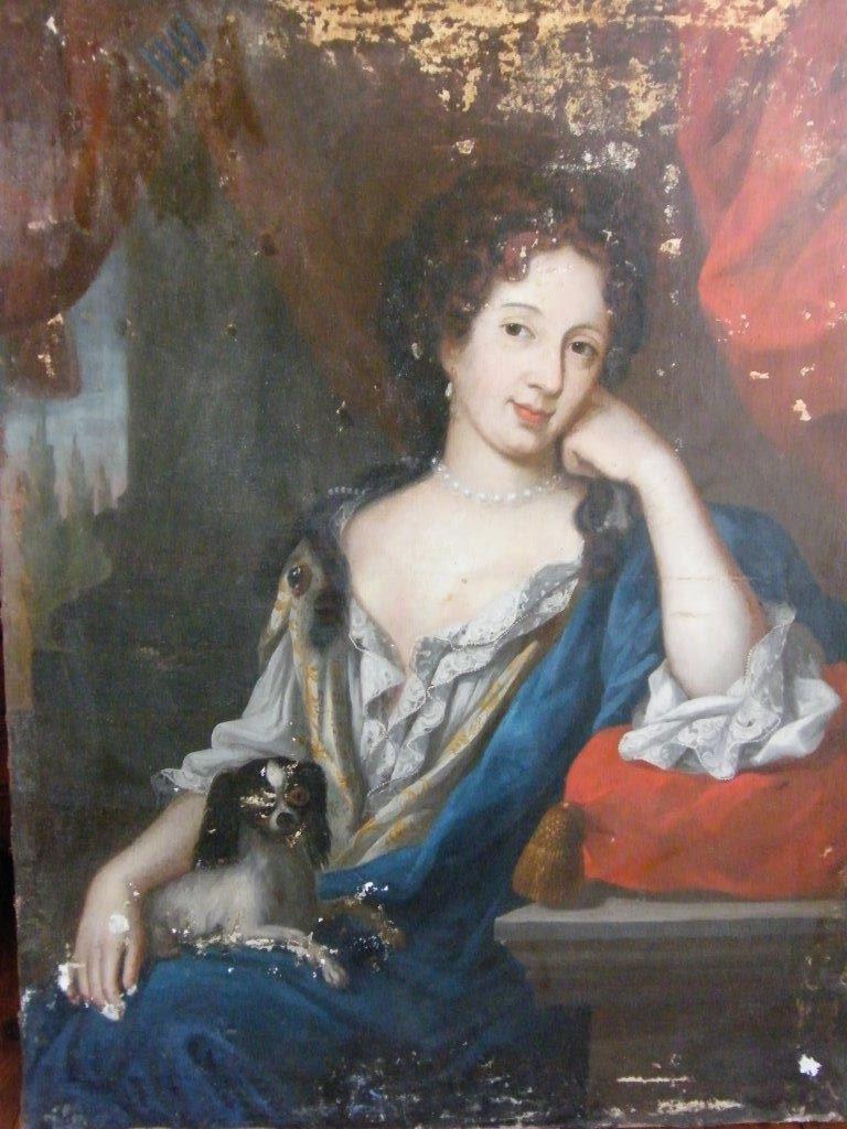 Portait présumé de Marie-Angélique de Scorailles, attribué à Elisabeth Sophie Cheron (collection privée du Baron M.H de A)
