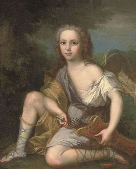 """Charles de Bourbon """"en cupidon"""", par François-Hubert Drouais (vers 1695)"""