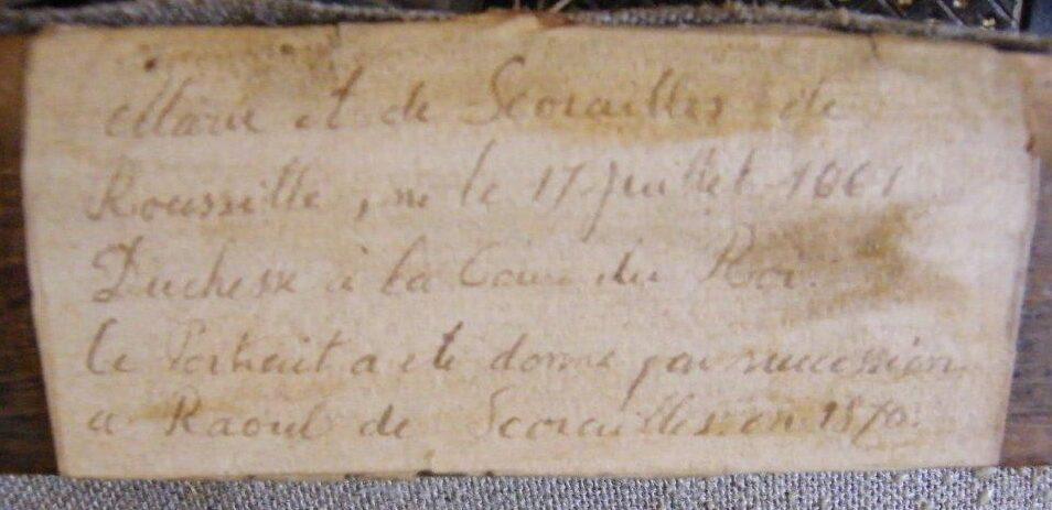 Etiquette du châssis (collection privée du Baron M.H de A)