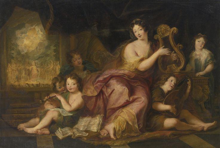 """""""L'allégorie de la musique"""" : Mme de Maintenon et les enfants de Mme de Montespan, par Antoine Coypel (vers 1684)"""