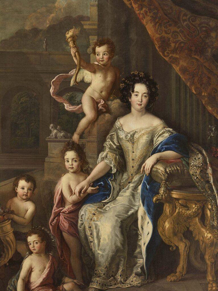 La marquise de Montespan et ses enfants, par Charles de La Fosse (1677)