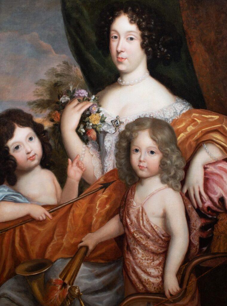 Mme de Montespan, le duc du Maine et le comte de Vexin, par l'atelier de Mignard (XVIIe siècle)